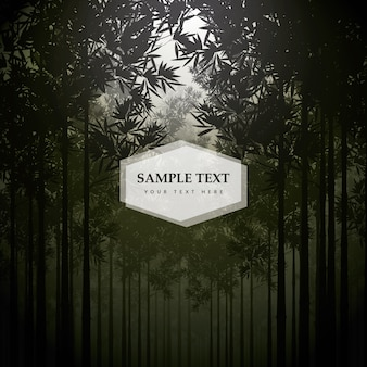 Background with forest design