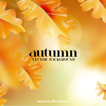 Background with golden autumn leaves