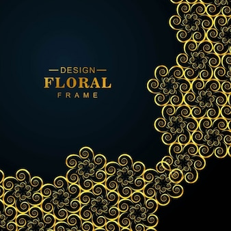 Background with golden floral elements