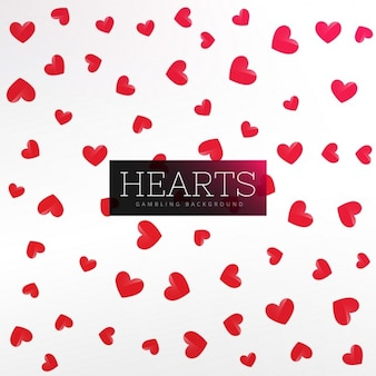 Background with hearts, poker
