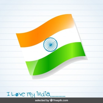 Background with India flag