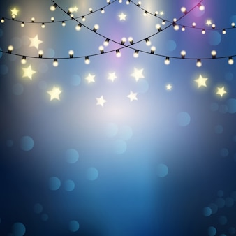 Background with lights and stars