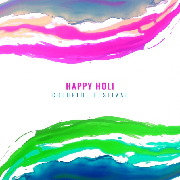 Background with lines of watercolors, holi festival