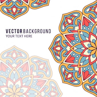 Background with mandalas, full color