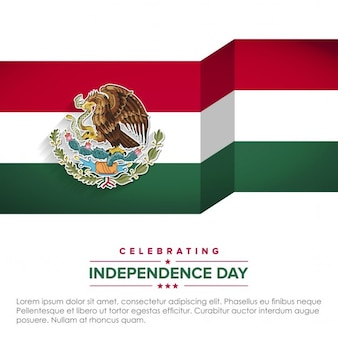 Background with mexico flag for independence day