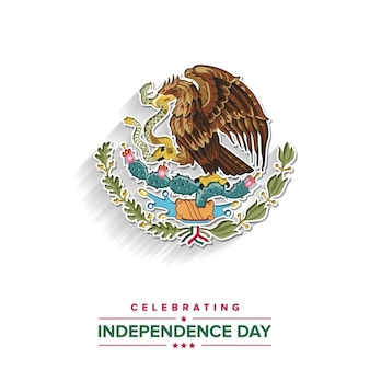 Background with mexico logo for independence day