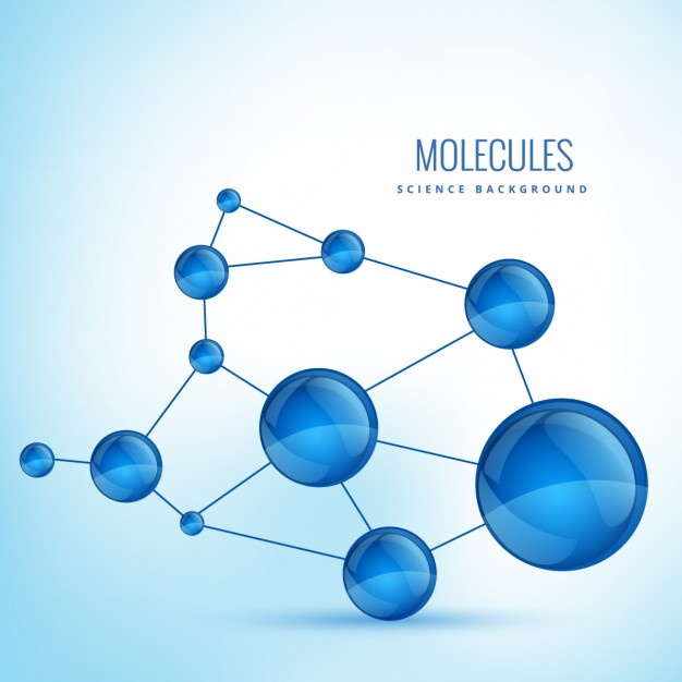 Background with molecules shapes
