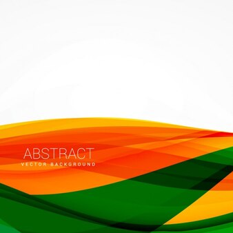 Background with orange and green waves