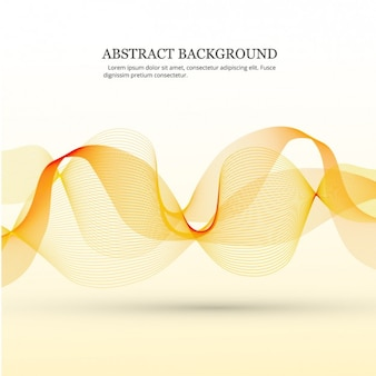 Background with orange motion curves