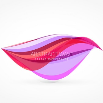 Background with pink wavy shape