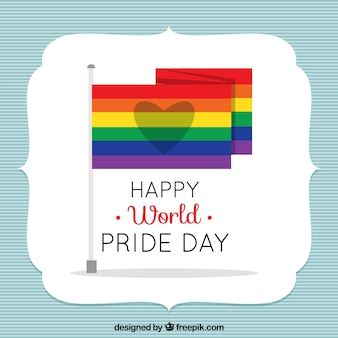 Background with pride day banners