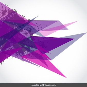 Background with purple triangles and stains