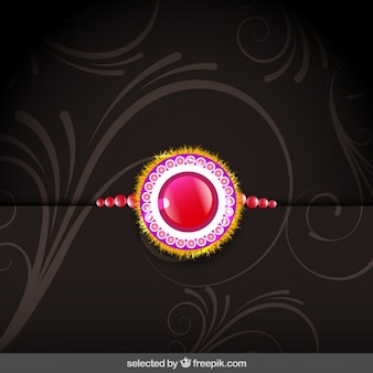 Background with rakhi wristband