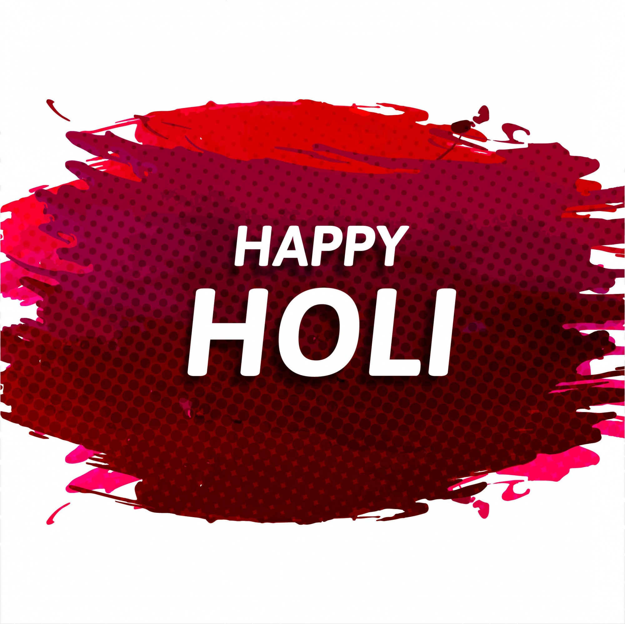 Background with red watercolor for holi festival