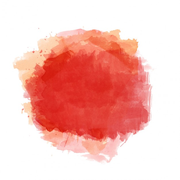 Background with red watercolor stain