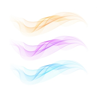 Background with three wavy shapes