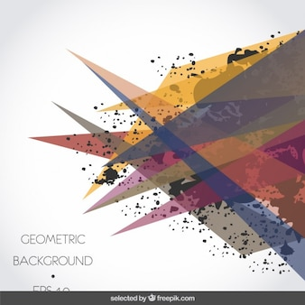 Background with translucent triangles and stains