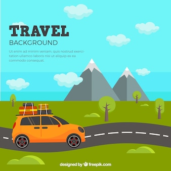 Background with travel design