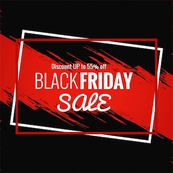 Background with two frames and red paint for black friday