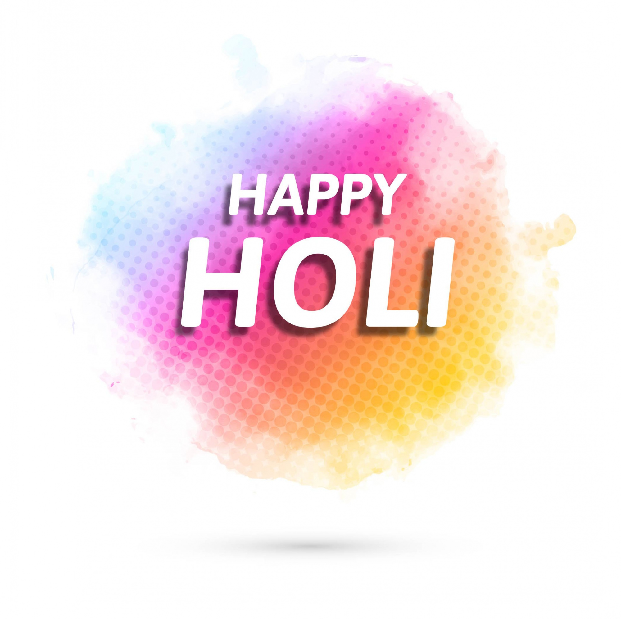 Background with watercolor texture for holi festival