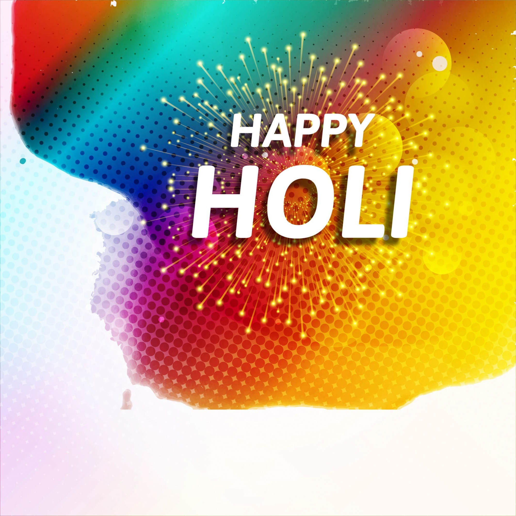 Background with watercolors and fireworks for holi festival
