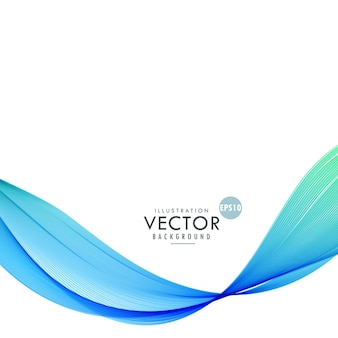 Background with wavy shapes, blue