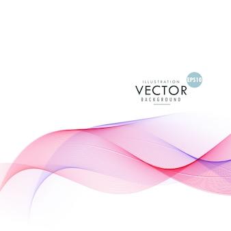 美しいピンクの波抽象的な背景