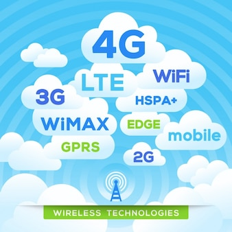 Background with wireless technology