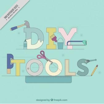 Background word  diy tools