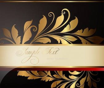 Background wreath banner packing luxury