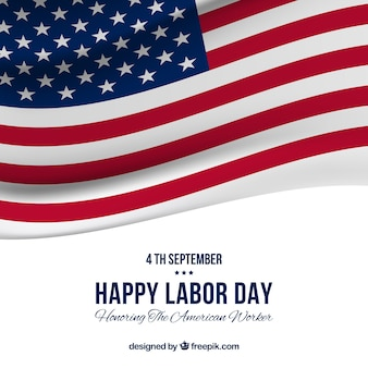 アメリカの旗を携えた労働日のバックグラウンド
