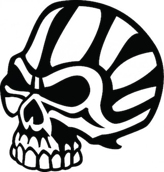 Bad skull in black and white