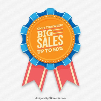 Badge of flat design sales
