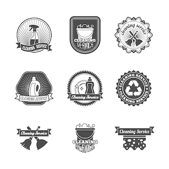 Badges about cleaning