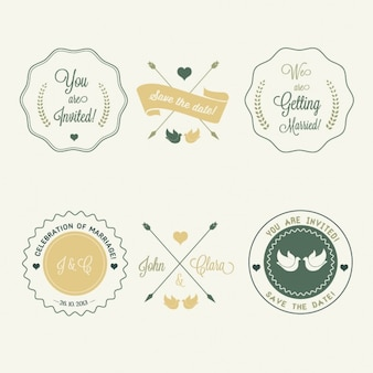 Badges for weddings
