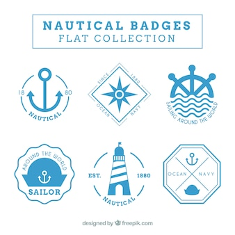 Badges nautical theme