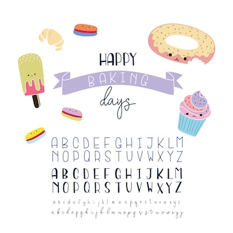 Bakery alphabet collection