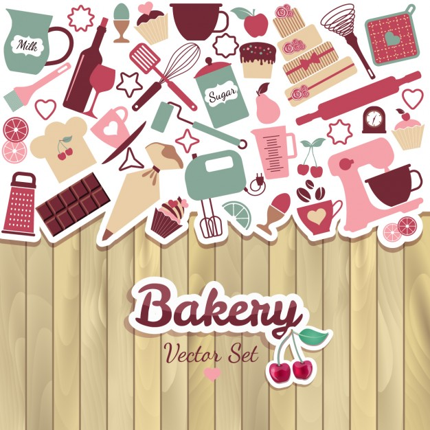 Bakery and sweets background