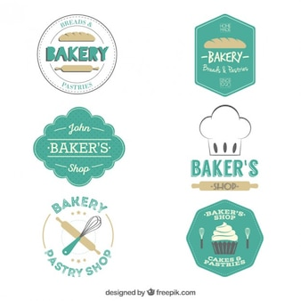 Bakery badges pack in a retro style