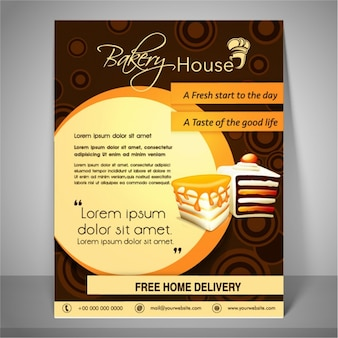 Bakery flyer vectors photos and psd files free download for Bakery brochure template free
