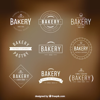 Bakery logo templates pack
