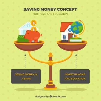 Balance with saving elements