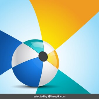 Ball with colorful background