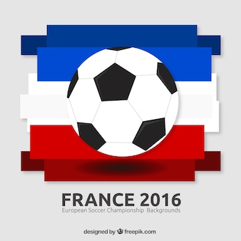 Ball with france flag background