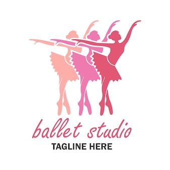 Ballet logo with ballerinas design