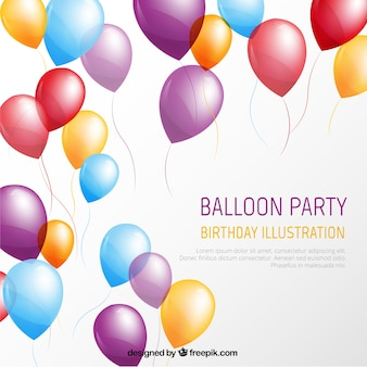 Balloon party template