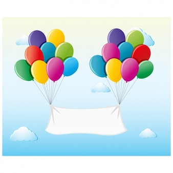 Balloons with banner background
