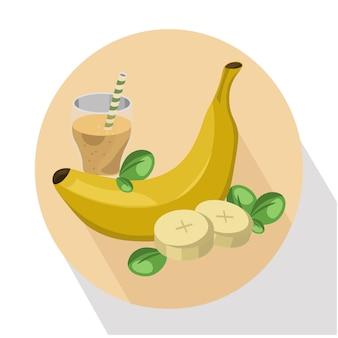 バナナの背景デザイン