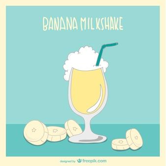 banana milkshake vector