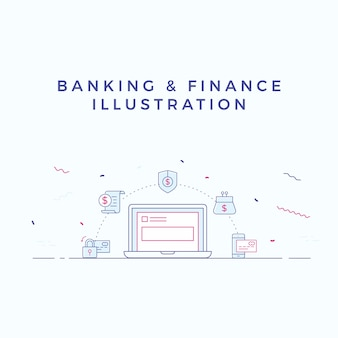 Banking & Finance Illustration